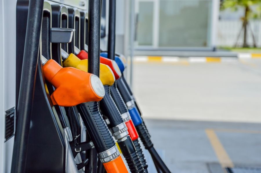 image of gas pumps