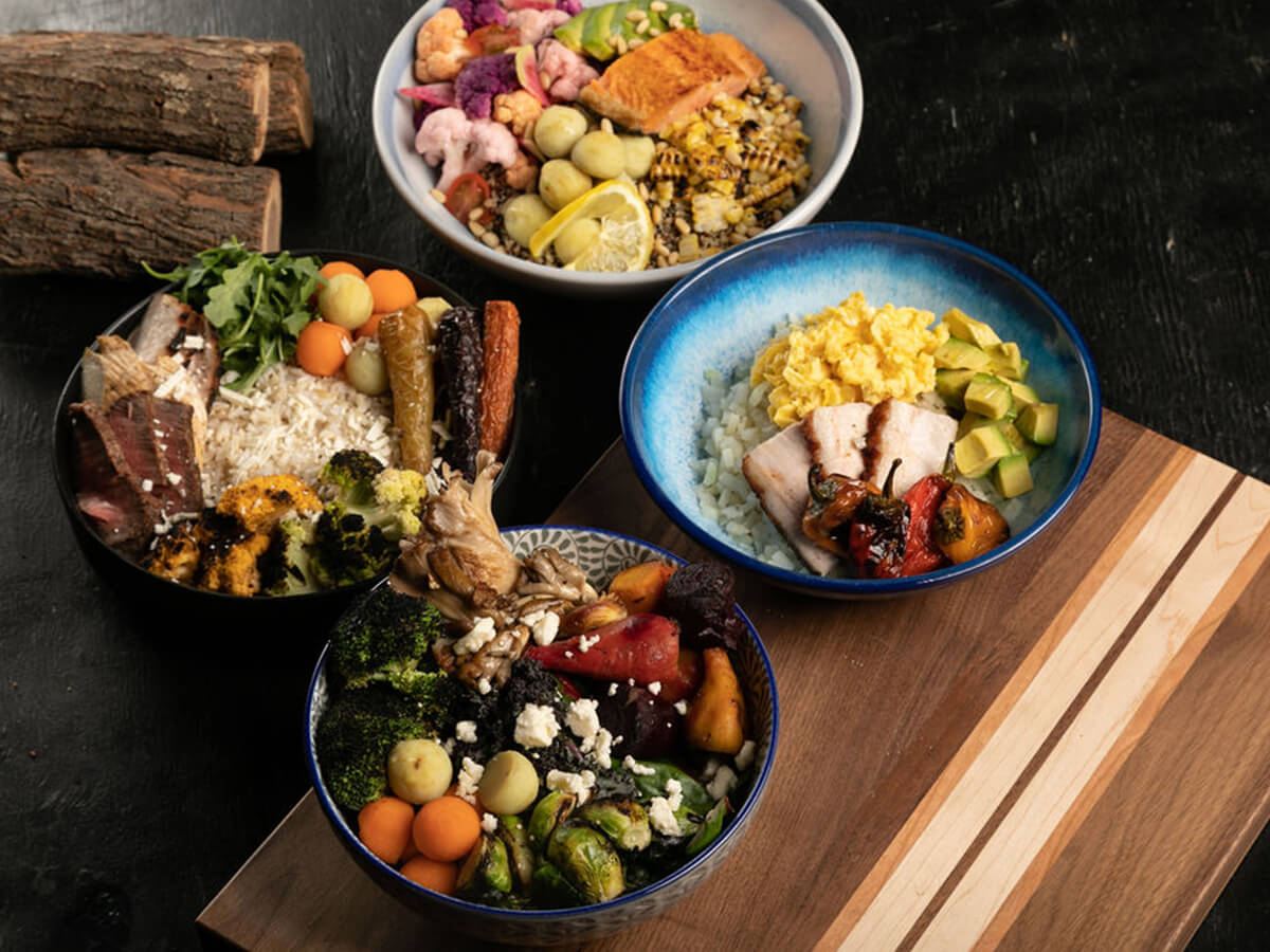 sample of our smoked veggie BBQ bowls