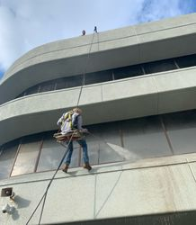 Power Washing high rise cleaning