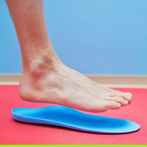 Foot on orthotics
