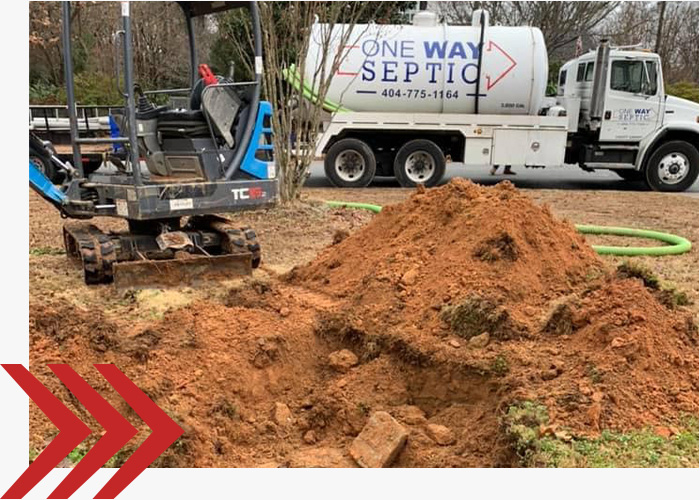One Way Septic providing a residential property with septic services.