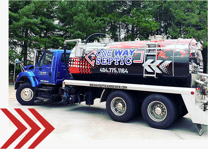 One Way Septic truck.