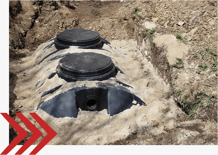 newly installed septic tank