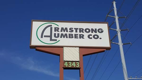 Armstrong Lumber Co. sign