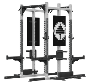 DOUBLE SIDED POWER RACK WITH GRAPHICS