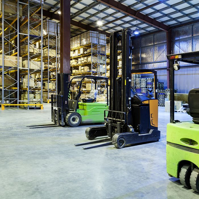 Forklift and other equipment in our warehouse