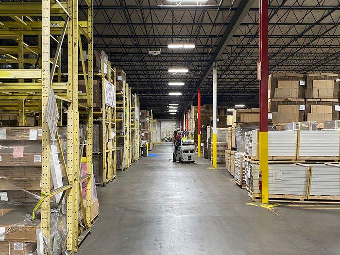 Well-organized warehouse.