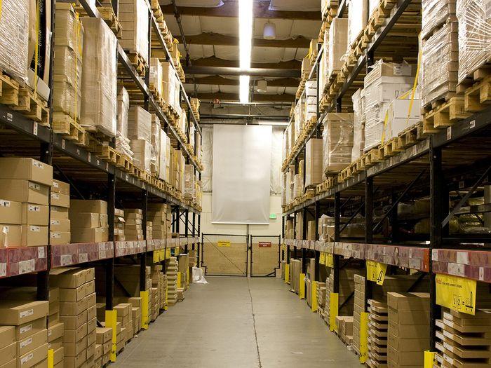 Nicely organized warehouse.