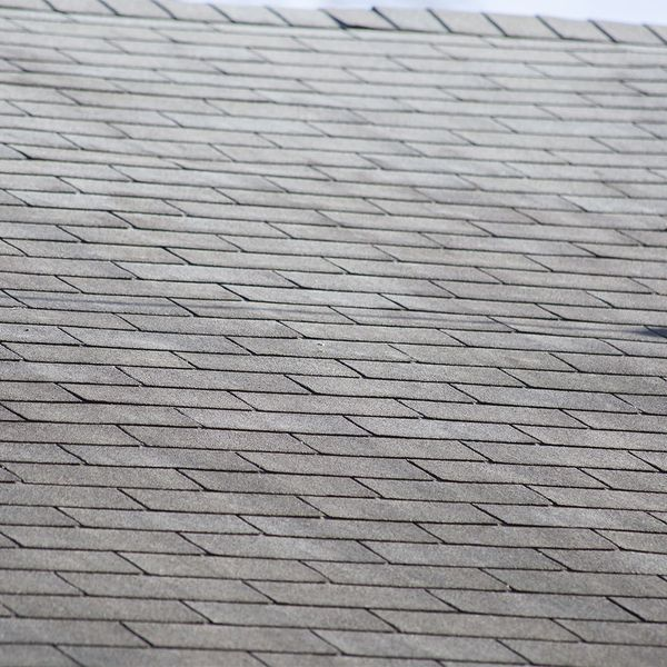 Old roof with aging shingles