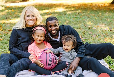 Coach Mike Scott and Family