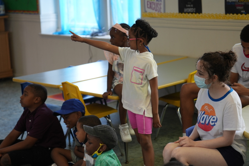 kids pointing