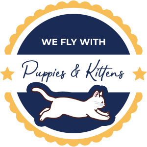We Fly With Puppies And Kittens trust badge