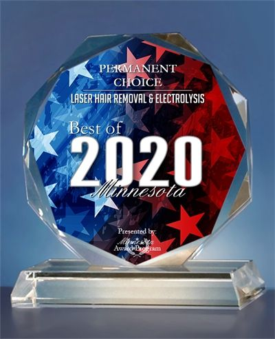 Laser Hair Removal & Electrolysis Best of 2020 Minnesota Award