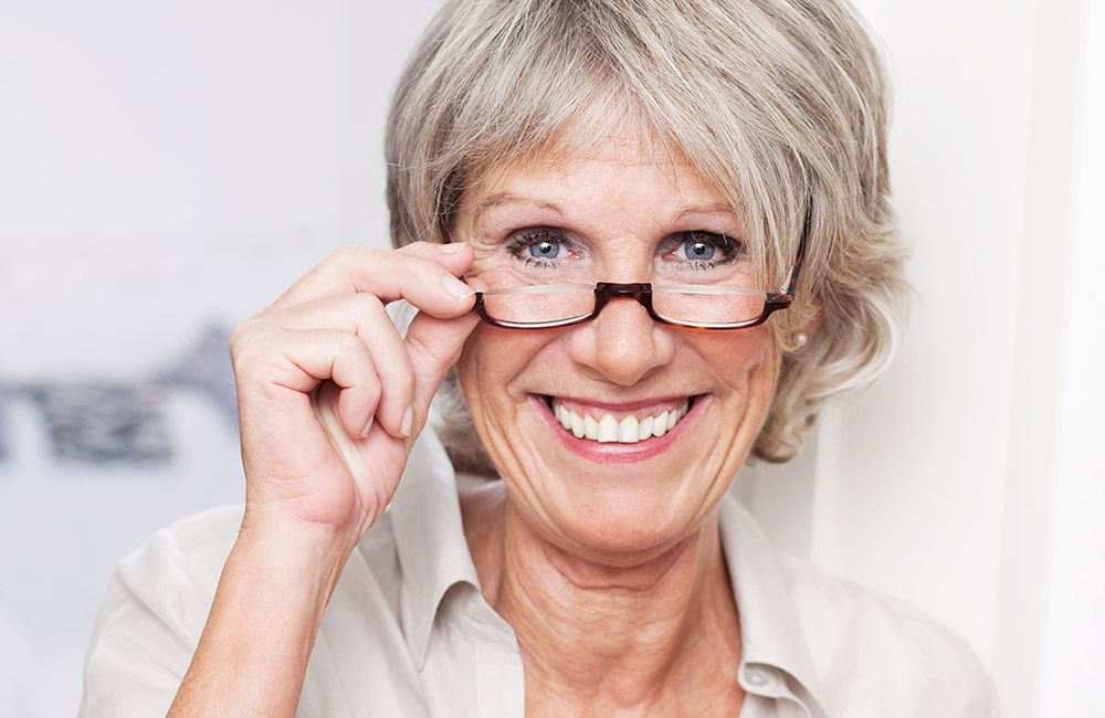 Photo of a woman with glasses