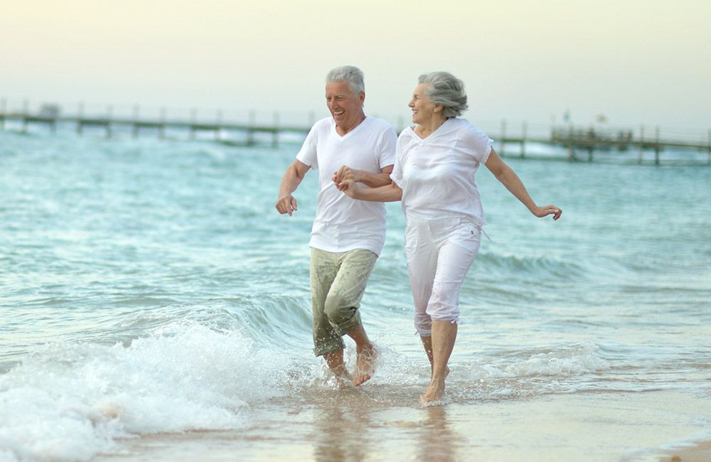 An active elderly couple