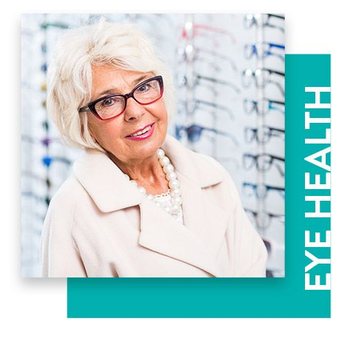 Photo of an elderly woman with glasses