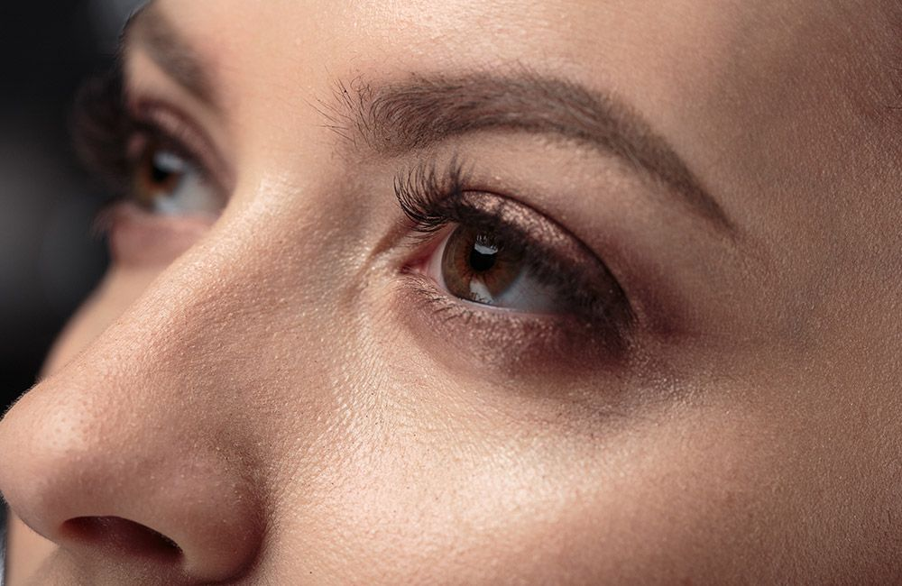 photo of a woman's eyes