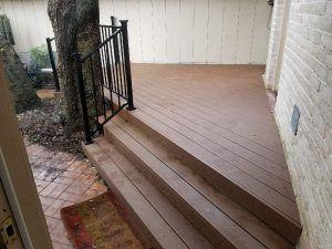Steps up to a deck with railing - Americraft Siding & Windows