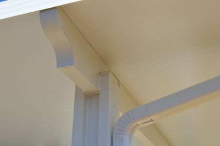 Molding detail on the underside of a patio cover - Americraft Siding & Windows