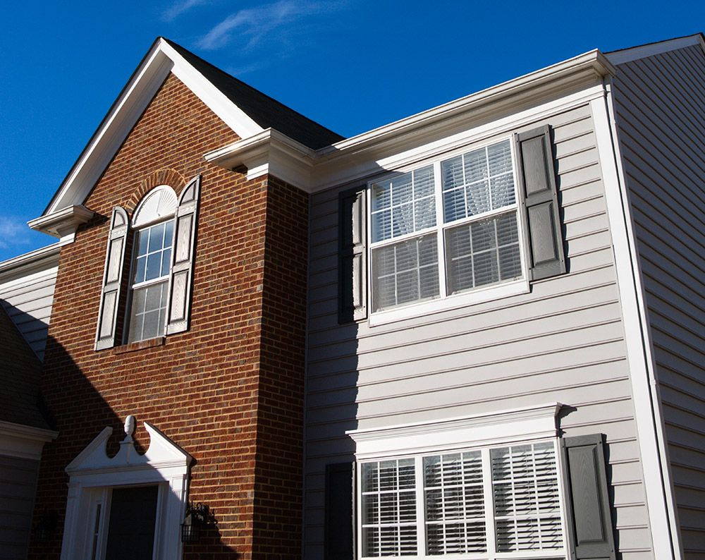 Image of a closeup of a house's siding