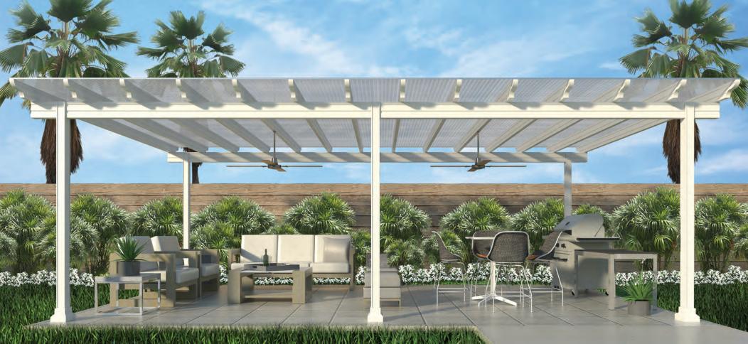 white patio cover