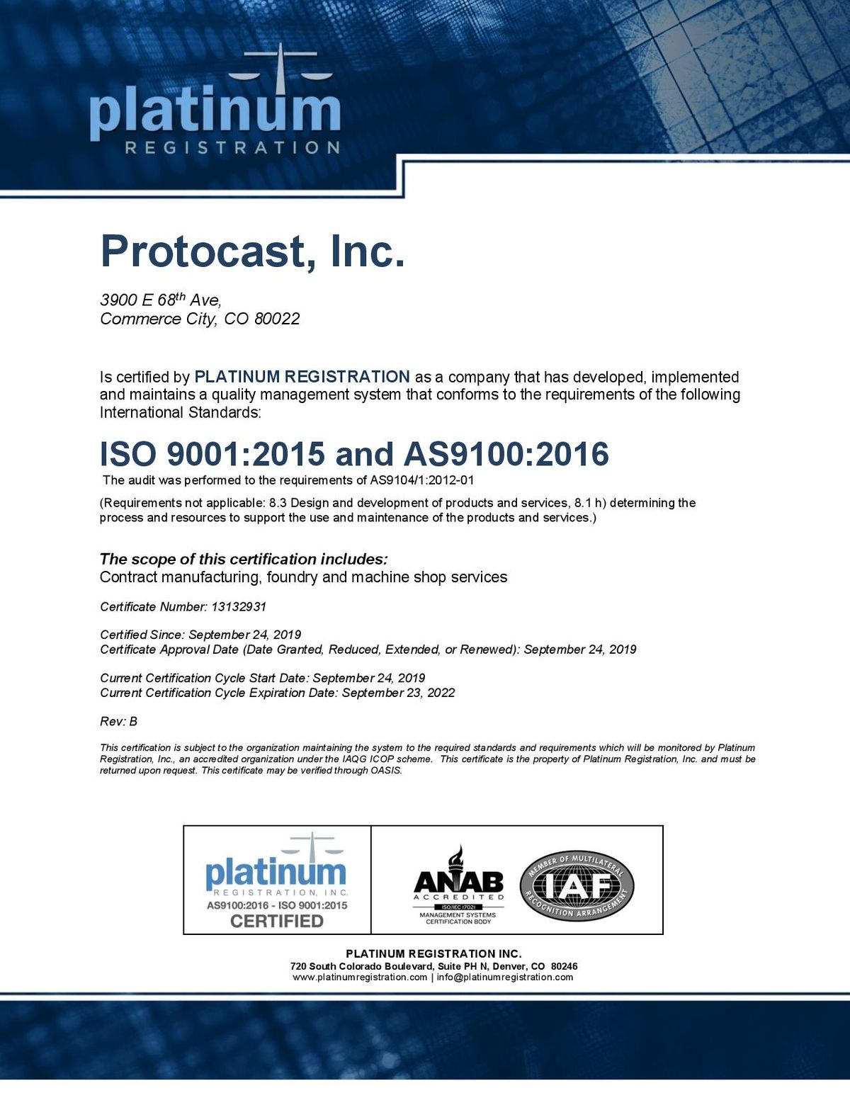 AS9100 ISO 9001 Protocast, Inc. Cert EXP2022SEPT24 RevA - sam-page-001.jpg