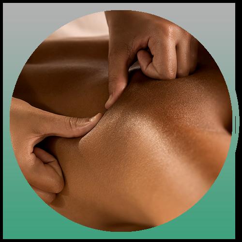 Person getting a deep tissue massage