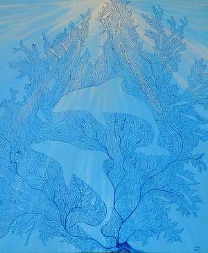 Fish & Dolphins in Blue Fan Coral-min.jpg