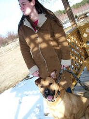 Jenn and Red Shortly After His Adoption