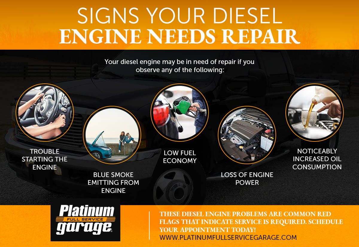 Signs Your Diese Engine Needs Repair Infographic