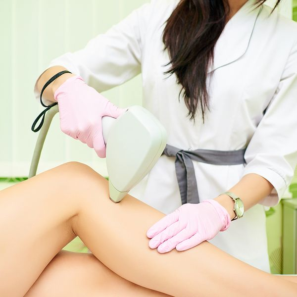 woman's legs getting laser hair removal