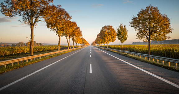An image of an open road.