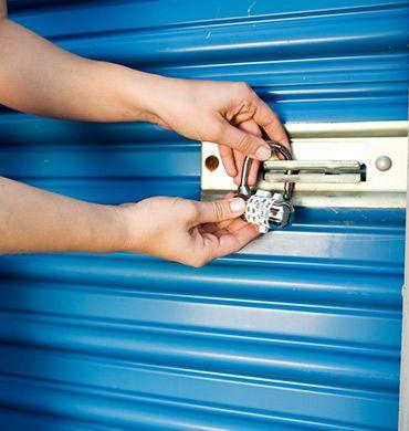 Man Locking Storage Unit