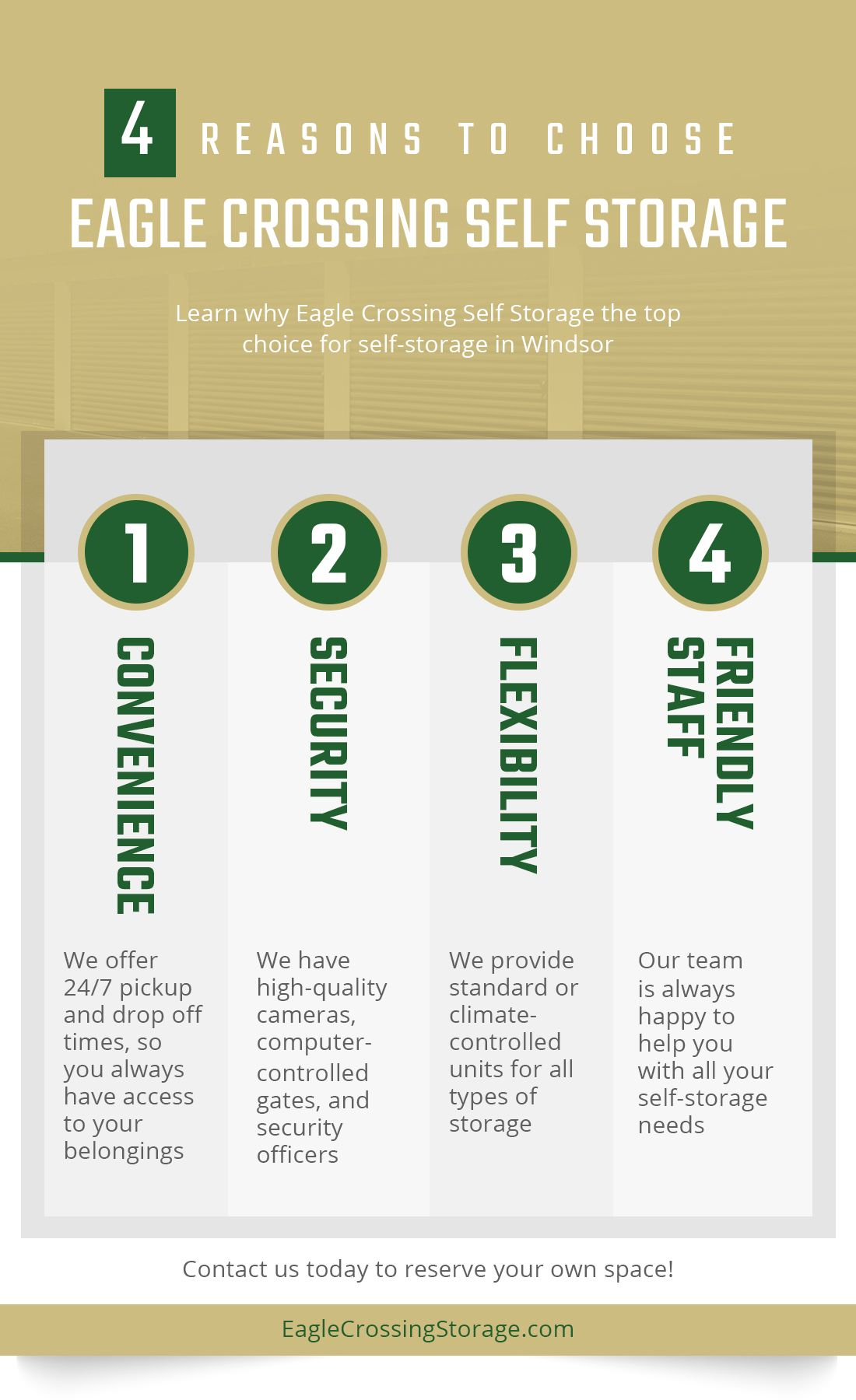 Reasons To Choose Eagle Crossing Self Storage Infographic