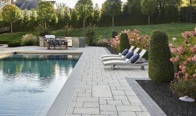 Custom pool deck and swimming pool.
