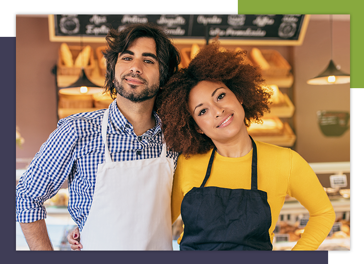 Image of  a two business owners