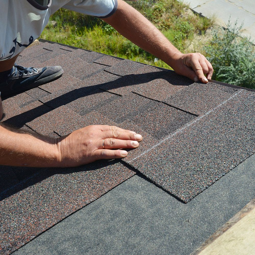 Photo of a roofer
