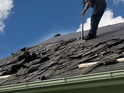 Photo of roof replacement
