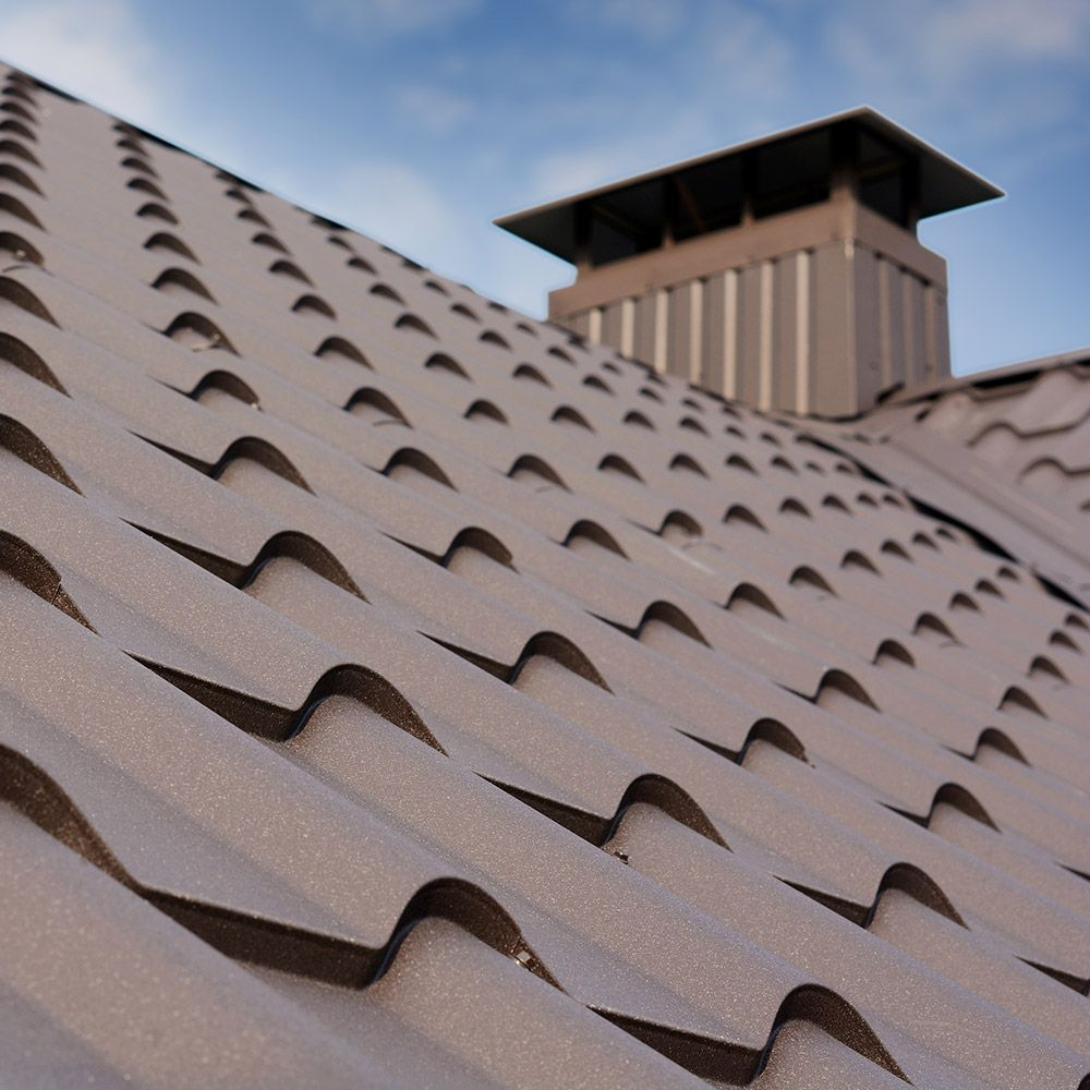 Photo of a metal roof