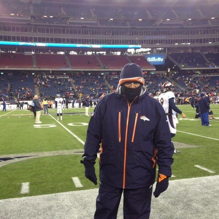 Chip on Denver Broncos Sideline