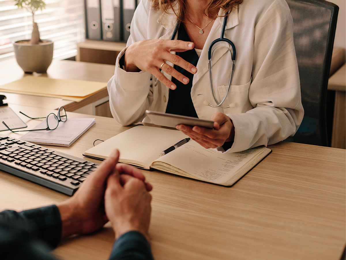 Doctor consulting with a patient in an office