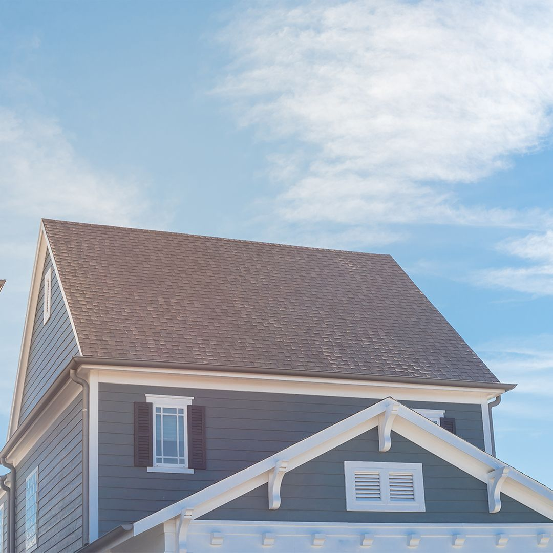 external image of a home's top story and roof