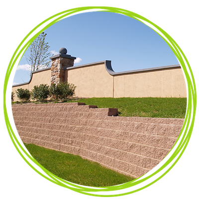 Image of a retaining wall