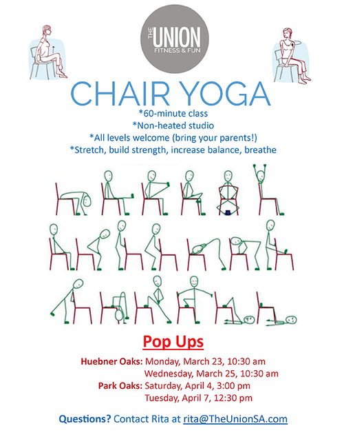 Chair yoga graphic