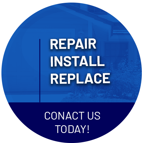 House with Repair Install Replace Text
