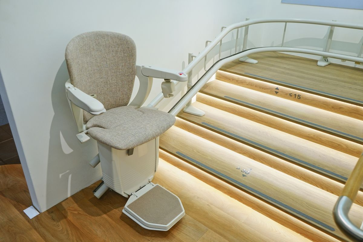 automatic stair lift in a house