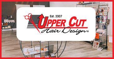 A hair salon with logo