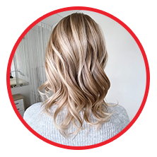 Woman with highlighted hair