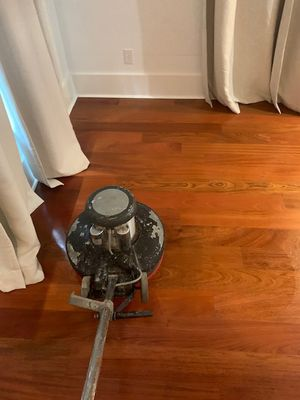 Performing Buffing on Warm Wood Floors