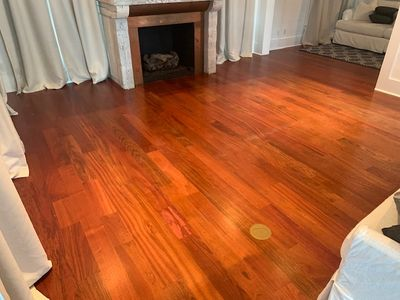 Warm Wood Floors After Refinish
